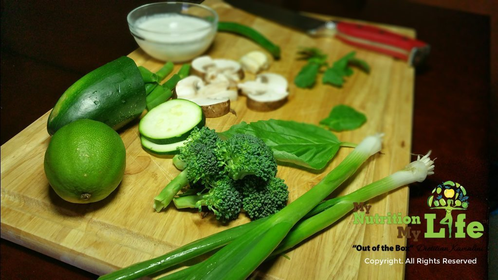 Shamrock Green Curry - Ingredients
