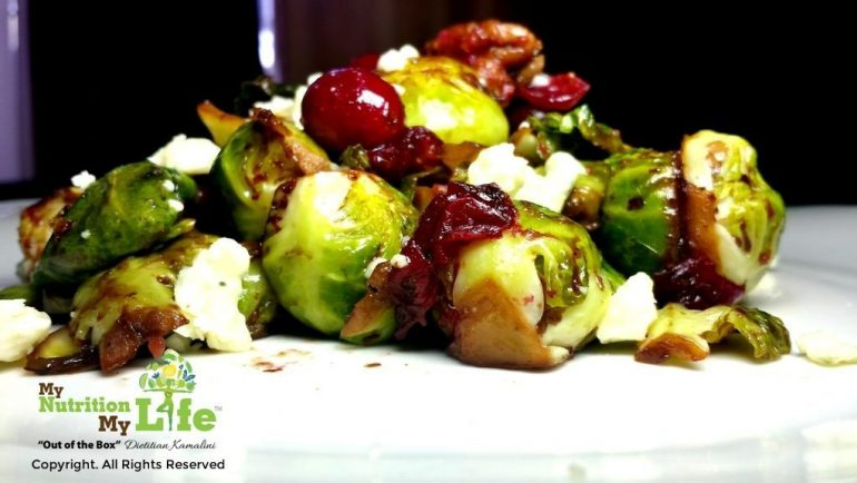 Brussels Sprouts with Cranberries and Pecans