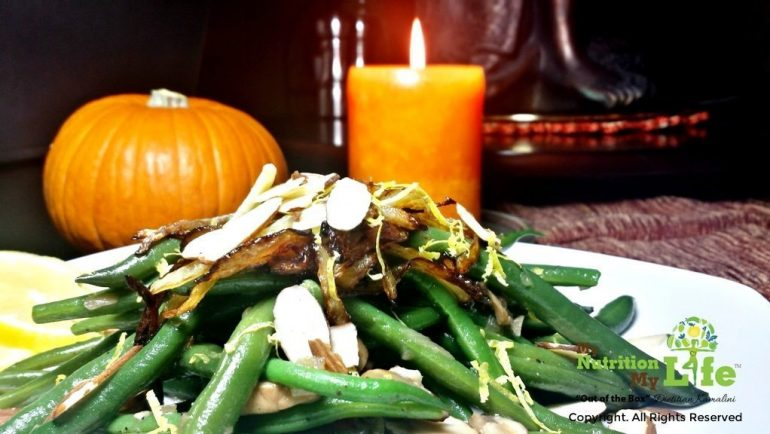 Lemon-Garlic Green beans and Mushroom