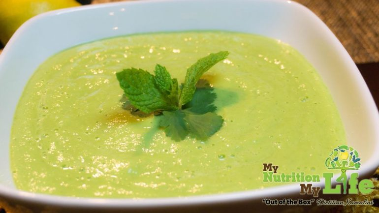 Chilled Creamy Cucumber Avocado Soup
