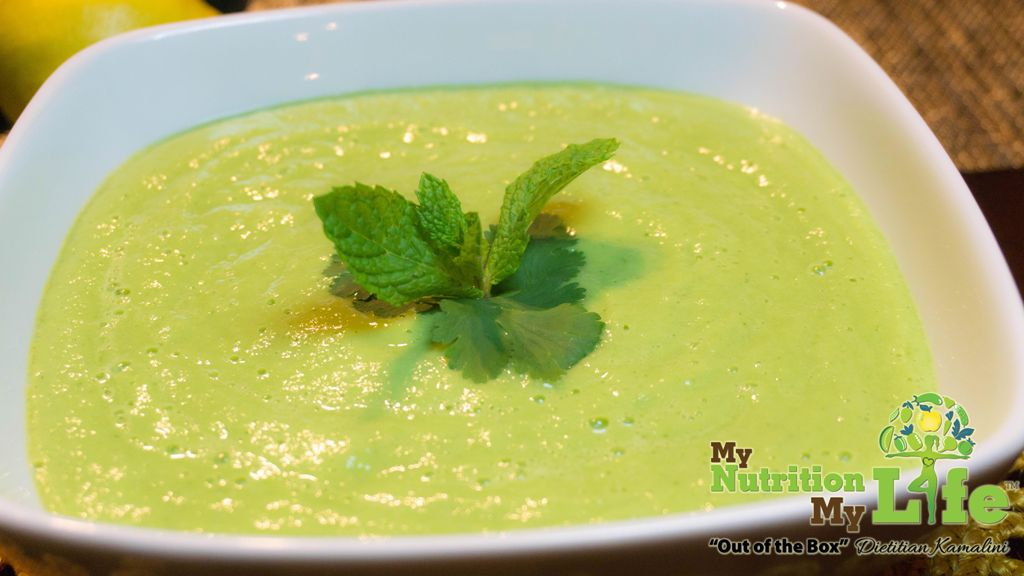 Chilled Creamy Cucumber-Avocado Soup-bowl