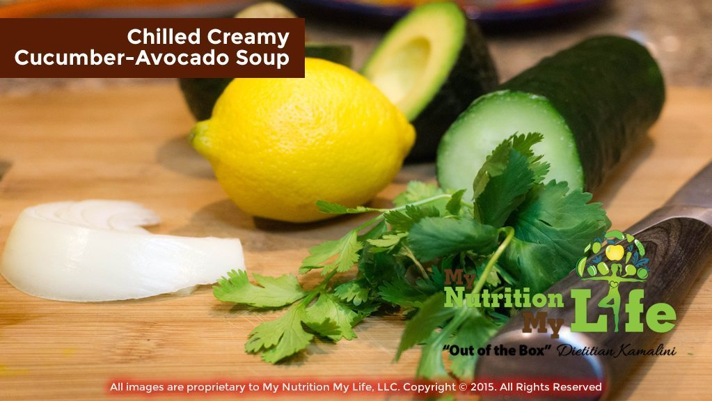 Chilled Creamy Cucumber-Avocado Soup